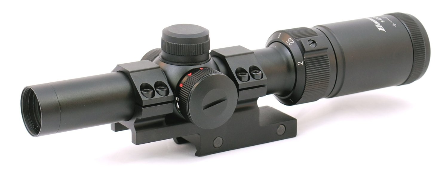 Hammers AR15 1-4x20 Compact Short CQB Tactical Rifle Scope