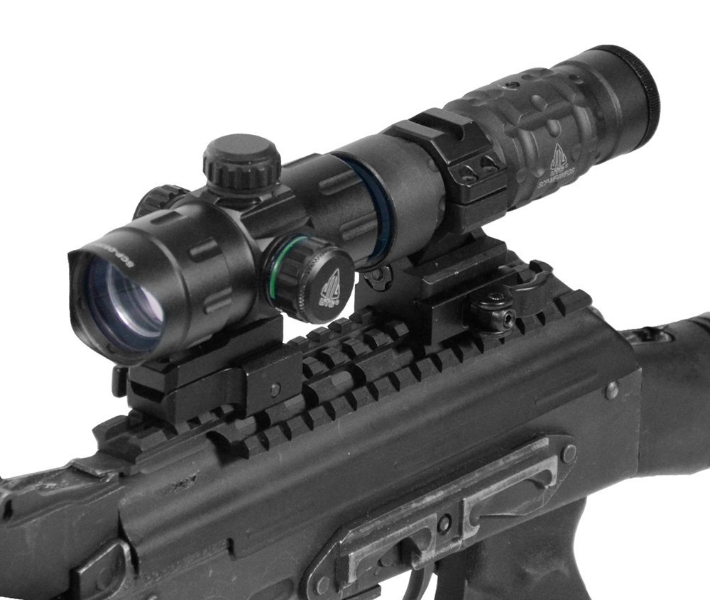 UTG 4.0 ITA Red-Green Dot Sight with Riser Adaptor2