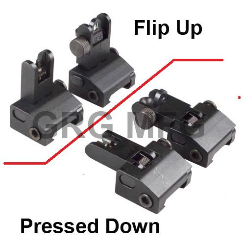 Flip Up Front and Rear Back up Iron Sight2