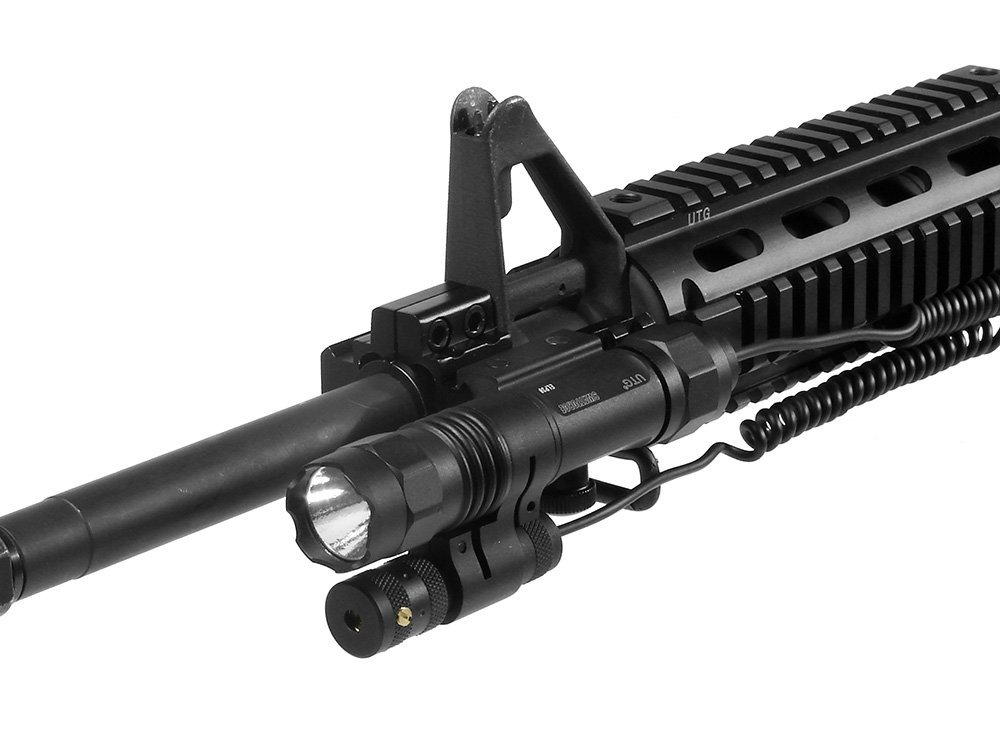 UTG 2-in-1 Tactical LED Flashlight with Red Laser 2