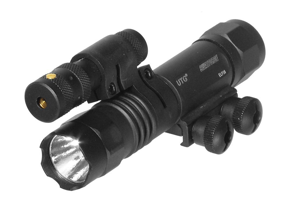 UTG 2-in-1 Tactical LED Flashlight with Red Laser