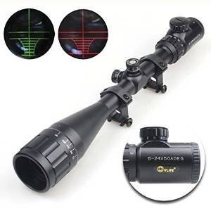 CVLIFE Optics Hunting Rifle Scope With Red & Green Illuminated Crosshairs