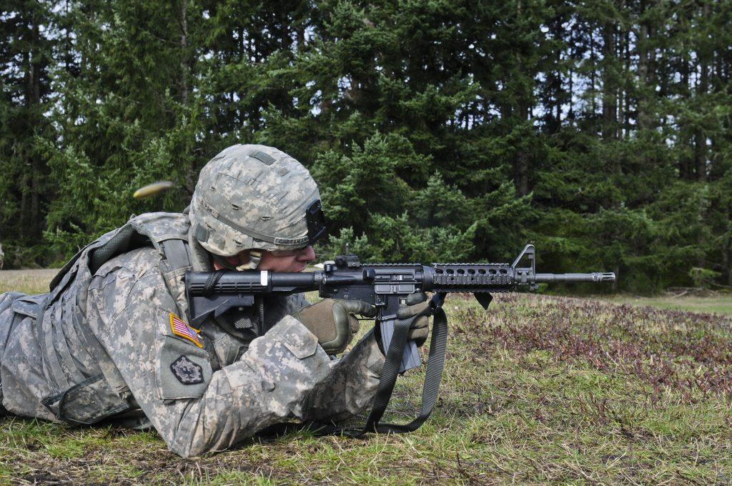 prone rifle shooting position
