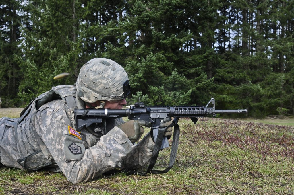 prone rifle shooting position