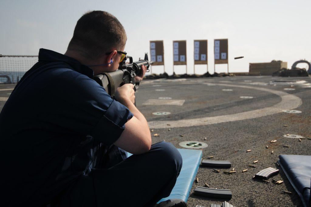 sitting rifle shooting position