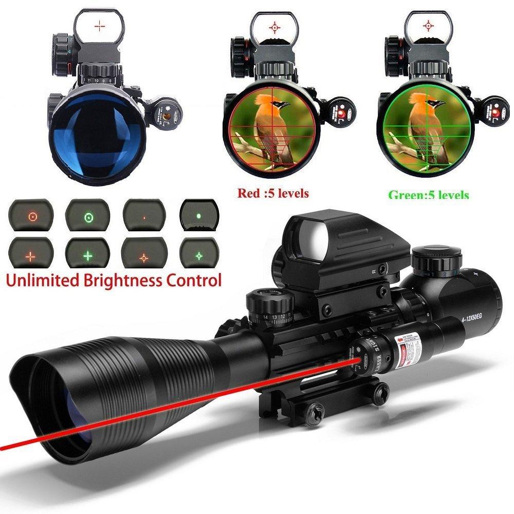 Amazon. Com: ar15 tactical rifle scopes 4-16x50eg dual ill reticle.